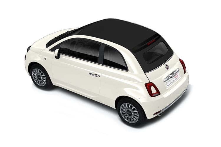 Fiat 500e C Convertible Elec 42kWh 87KW 118PS Passion 2Dr Auto back view