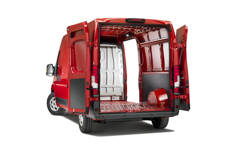 Fiat Ducato e-Ducato 35 MWB Elec 79kWh 90KW FWD 122PS  Van High Roof Auto [11kW&50kW Rapid Charger] back view