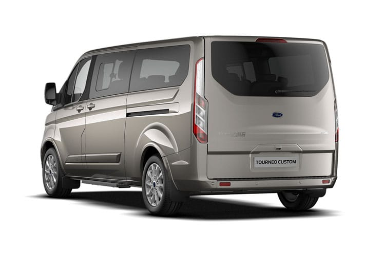 Ford Tourneo Custom 320 L1 M1 2.0 EcoBlue FWD 185PS Sport Minibus Manual [Start Stop] [8Seat] back view