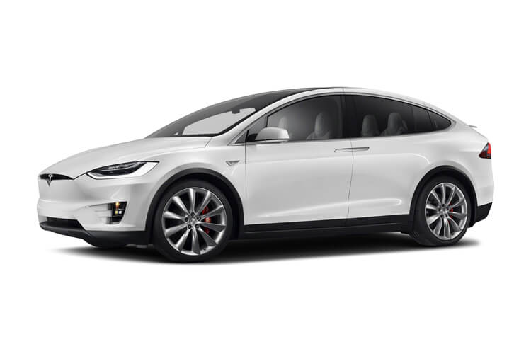 Tesla Model X SUV 5Dr Tri Motor Elec 761KW 1020PS Plaid 5Dr Auto [7Seat] front view