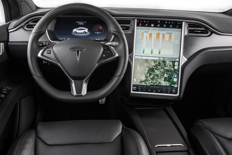Tesla Model X SUV 5Dr Tri Motor Elec 761KW 1020PS Plaid 5Dr Auto [7Seat] inside view